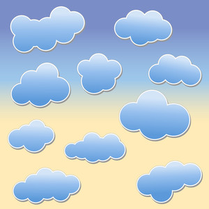 Clouds Shapes Vectors