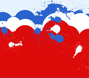 Clouds & Splash Grunge 4th Of July Vector Theme