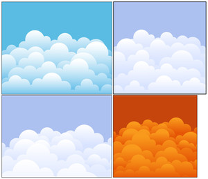 Clouds Vector Backgrounds