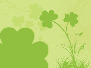 Clover Floral Background For Celebration 17 March