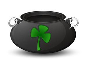 Clover Leaf Icon Cauldron