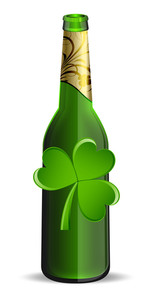 Clover Leaf With Beer Bottle