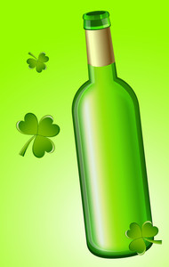 Clover Leaves With Beer Bottle