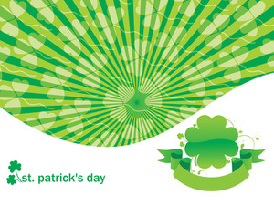 Clover Rays Background Text Vector 17 March