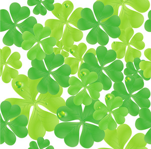 Clover Seamless Vector Background.