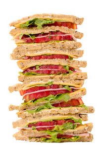 Club Sandwiches Isolated