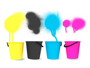 Cmyk Buckets Designs