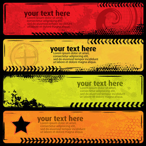 Cmyk Grunge Banners