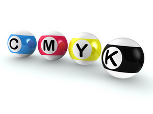 Cmyk Publishing Shows Printing And Printer Ink