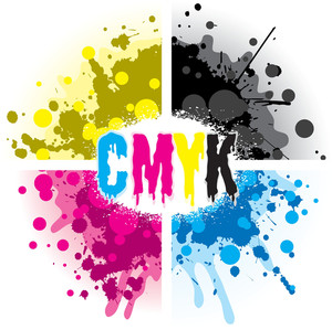 Cmyk Splash Design