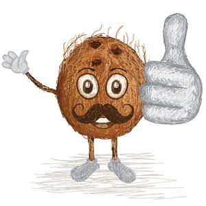Coconut Unhusked Mustache