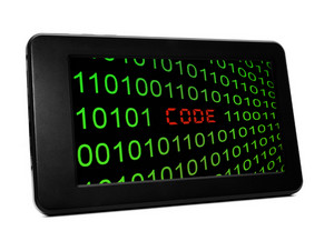 Code Concept On Pc Tablet