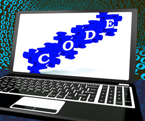 Code On Laptop Shows System Codification