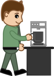 Coffe - Office Character - Vector Illustration
