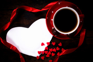 Coffee And Valentine Card
