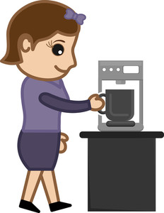 Coffee Habit - Office Character - Vector Illustration