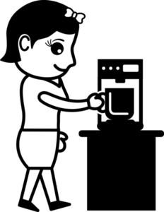 Coffee Habit - Office Character - Vector Illustration