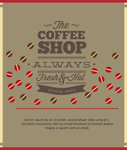 Coffee Shop Ad Design (editable Text)