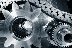 cogs and gears powered by timing chain