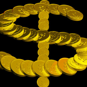 Coins Dollar Symbol Showing American Finances