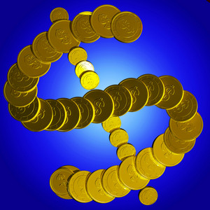 Coins Dollar Symbol Shows American Market