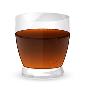 Cold Drink Glass Vector
