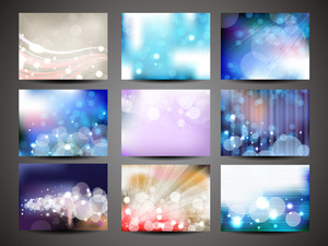 Collection Of Abstract Multicolored Backgrounds 10 Vector