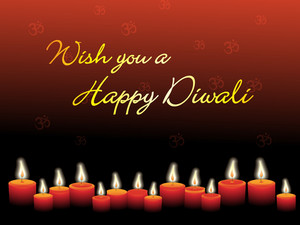 Collection Of Candles With Diwali Background