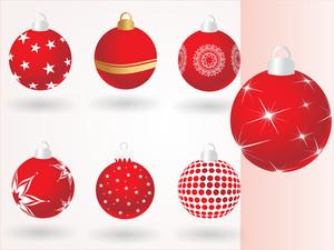 Collection Of Christmas Ball Illustration