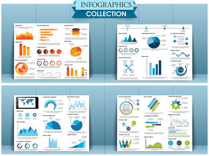 Collection of creative business infographic template or brochure for print and presentation.