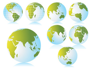 Collection Of Globe With Background