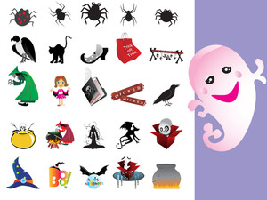 Collection Of Halloween Icons Set