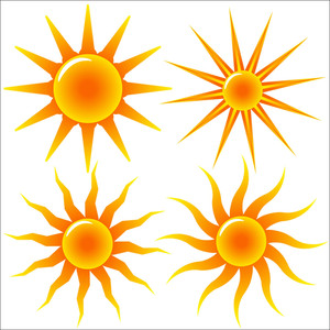 Collection Of Vector Sun
