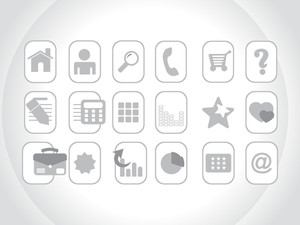 Collection Of Web Icons In Gray