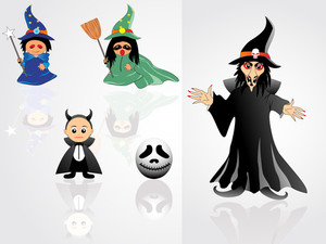 Collection Of Witch With Background