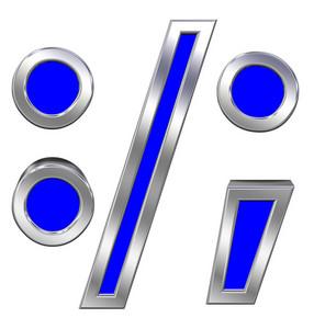 Colon, Semicolon, Period, Comma Sign From Alphabet Set