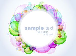 Color Abstract With Transparent Bubbles. Vector Background.