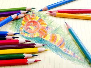 Color Pencils And My Daughter Art