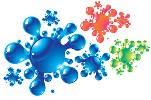Color Splashes. Vector.