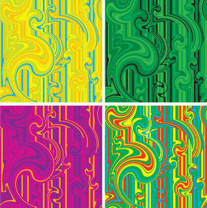 Color Turbulence. Vector Seamless Background.