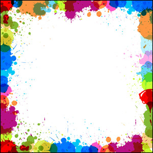 Colored Drops Border Design Vector