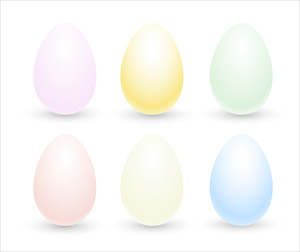 Colored Eggs Vectors