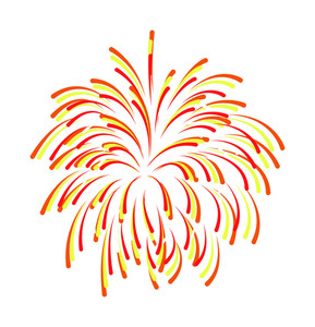 Colored Fireworks Background Design