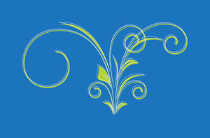 Colored Floral Design Element Vector