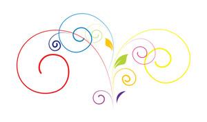 Colored Floral Design