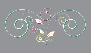 Colored Flourish Design Element Vector