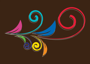 Colored Flourish Design