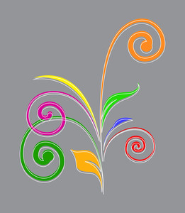 Colored Flourish Elements Design