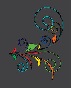 Colored Flourish Shape