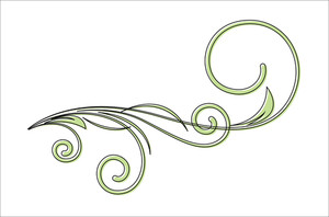Colored Flourish Vector Design Element